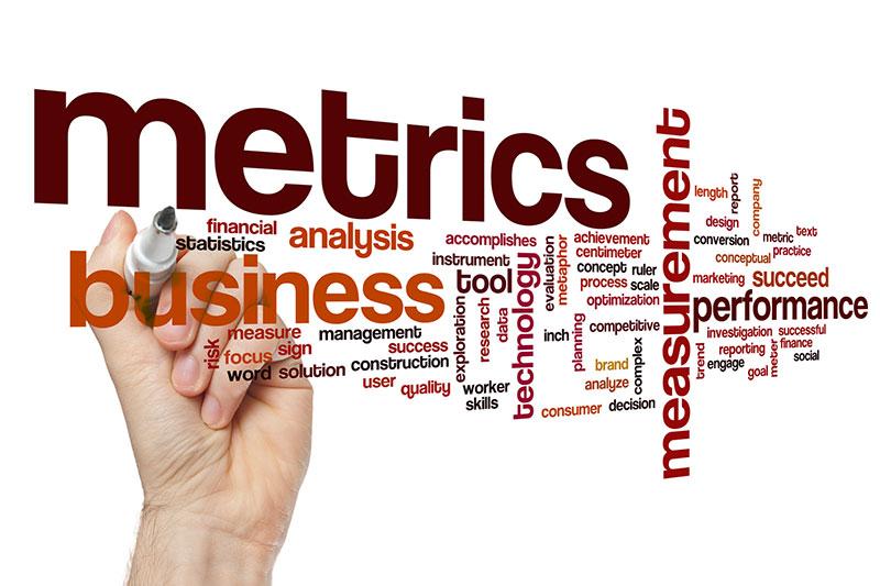 keyword cloud on business metrics